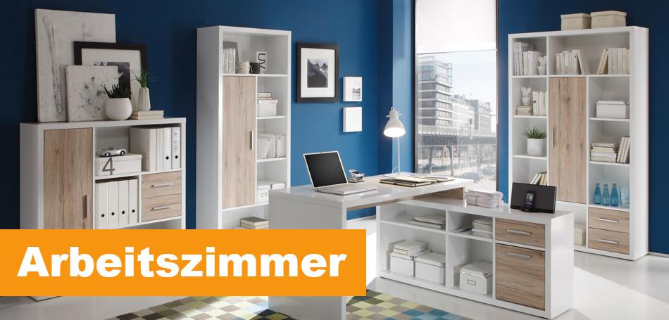 Effizient gestaltete Arbeitszimmer von Sconto.