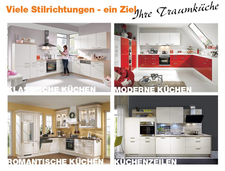 Sconto-Küchen - Viele Stilrichtungen, ein Ziel - Ihre Traumküche.