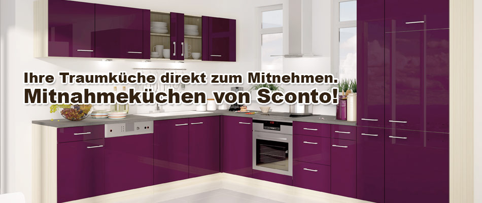 sconto k chen markenqualit t zu g nstigen preisen. Black Bedroom Furniture Sets. Home Design Ideas