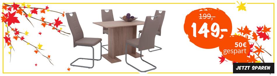 Kräftig bei Tischgruppen sparen