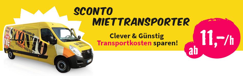 Günstige Konditionen für den Sconto Miettransporter