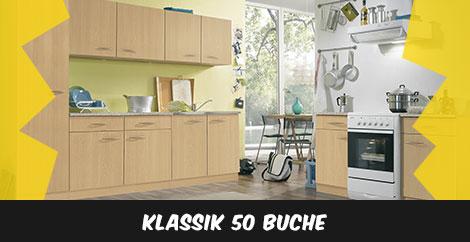 Einbauküche Klassik 50 Buche - stellen Sie sich Ihre Einbauküche zusammen