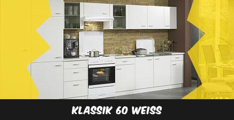 Einbauküche Klassik 60 Weiß - stellen Sie sich Ihre Einbauküche zusammen