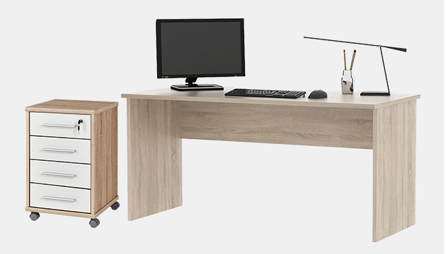 Johan Schreibtisch und Container