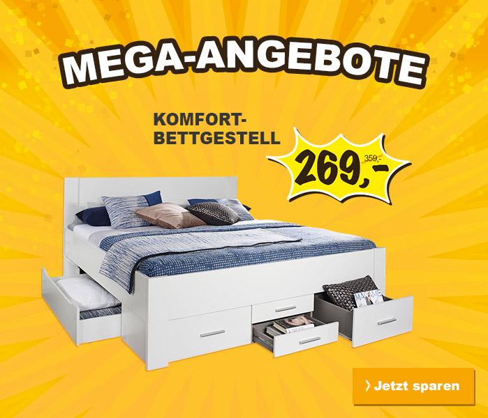 Bett radikal reduziert