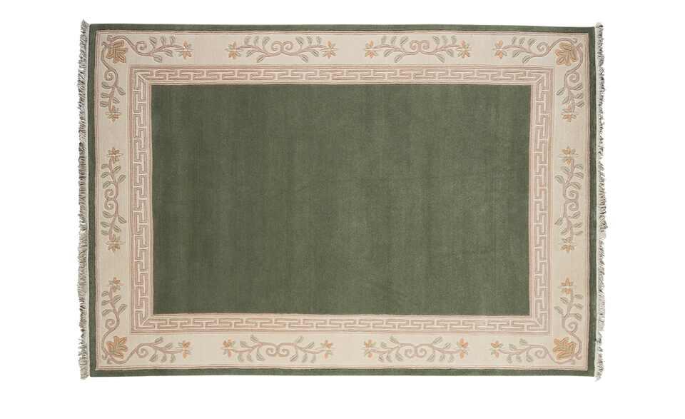 Handgeknüpfter Teppich in Grün
