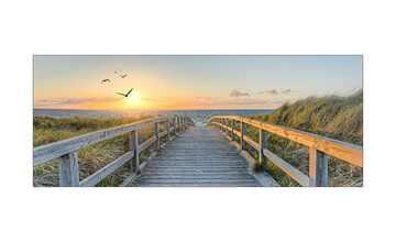 Glasbild 80x30 cm  Birds Above Lost Sea