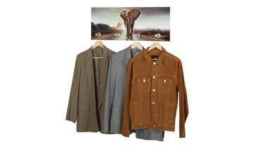 Glasgarderobe  Elefant