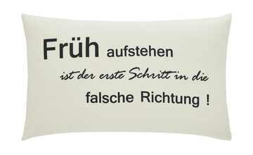 """for friends Kissen  """"Früh aufstehen ..."""""""