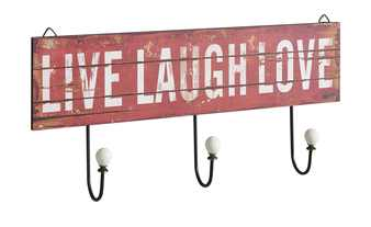 Wandgarderobe  Live Laugh Love