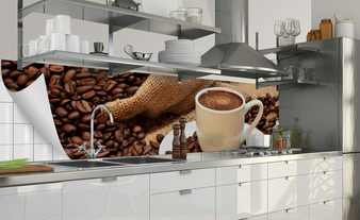 Küchenrückwand-Folie  Fixy Kaffeepause