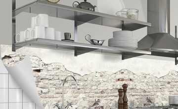 Küchenrückwand-Folie  Fixy Vintage Wall