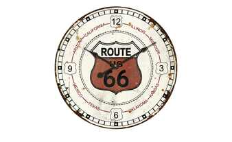 "Wanduhr ""Route 66"""