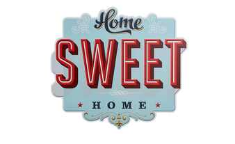 "Cut-Out ""Home sweet home"""