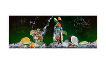 Glasbild 80x30 cm  Exotic Cocktails