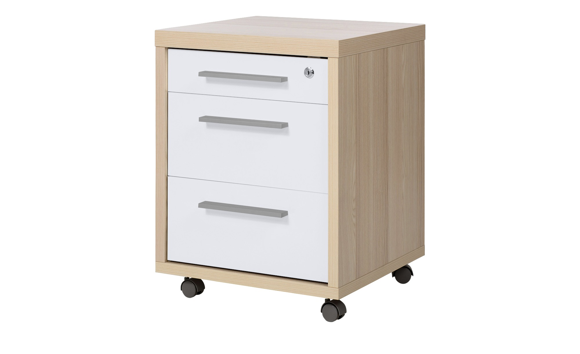Rollcontainer - holzfarben - 47 cm - 61,5 cm - 45 cm - Sconto | Büro > Büroschränke > Rollcontainer | Sconto