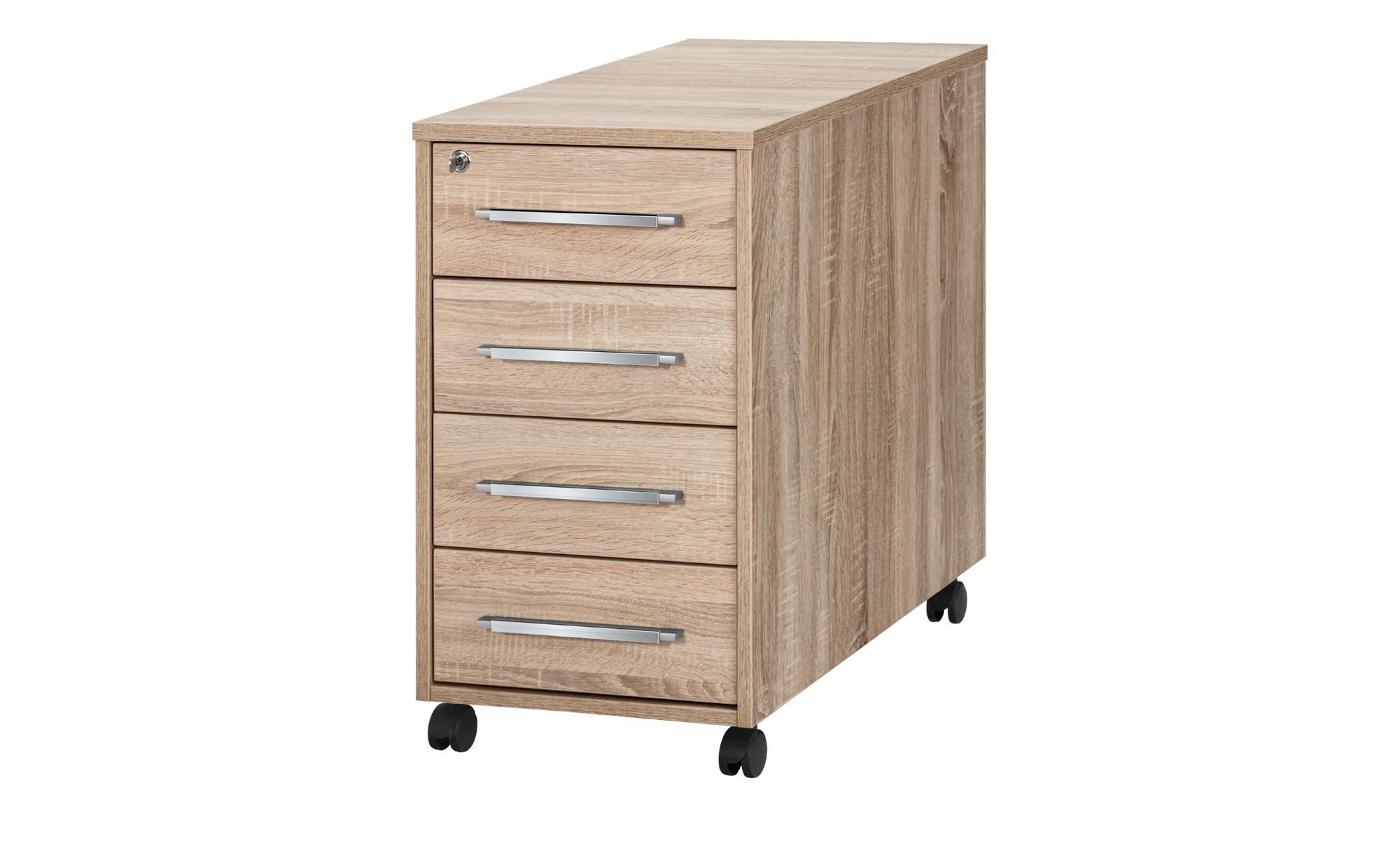 Rollcontainer - holzfarben - 43 cm - 75 cm - 80 cm - Sconto | Büro > Büroschränke > Rollcontainer | Sconto