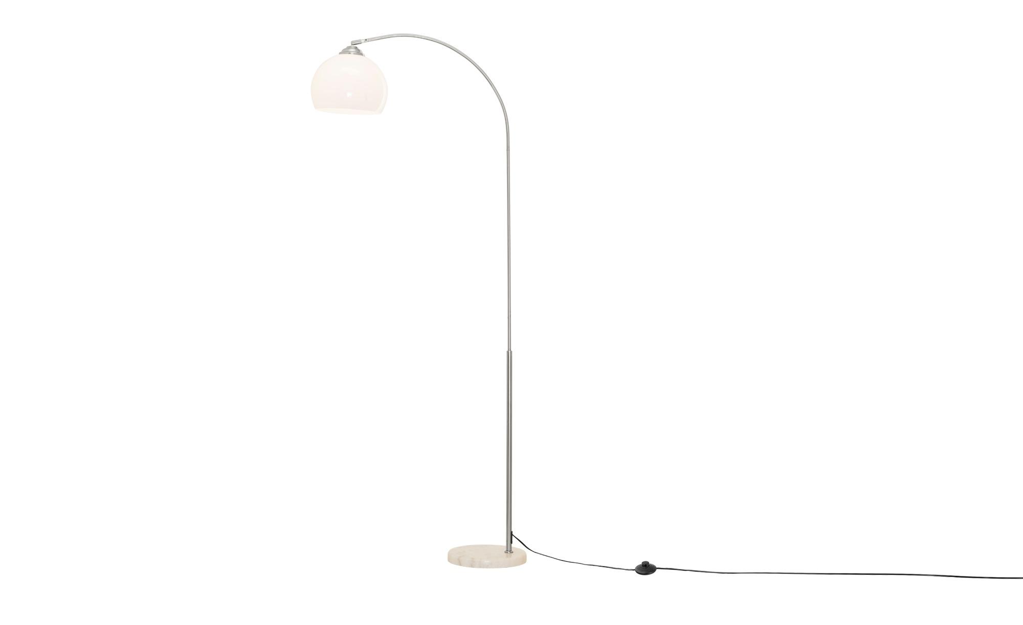 Bogenlampe mit weißem Kunststoffschirm von KHG