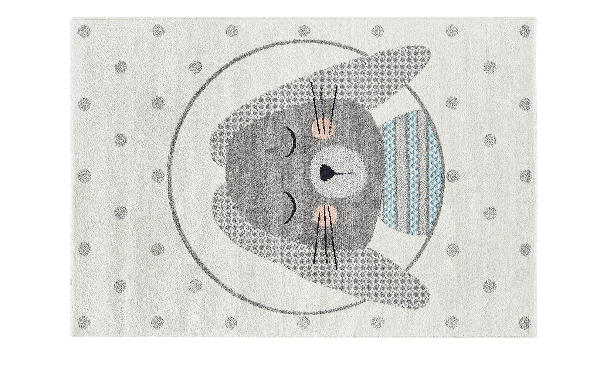 Flauschiger Kinderteppich mit Hase