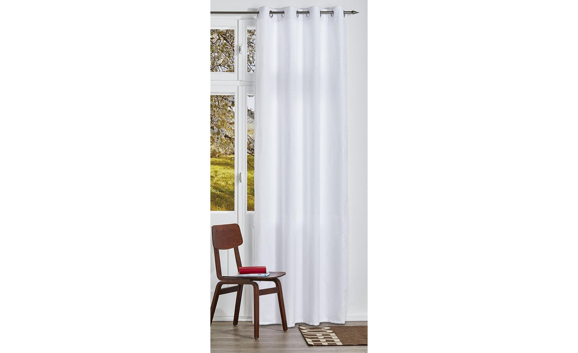 como Ösenschal - weiß - 100% Polyester - 140 cm - 245 cm - Sconto | Heimtextilien > Gardinen und Vorhänge > Vorhänge | como
