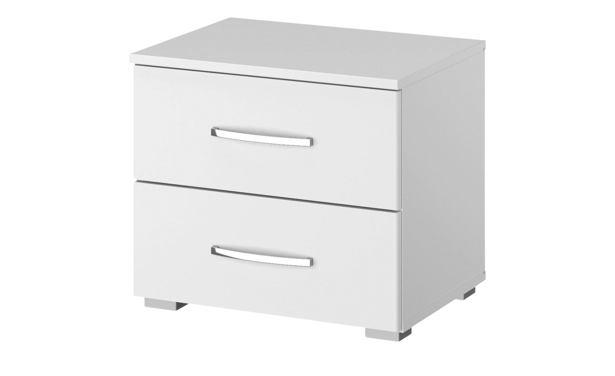 Nachttisch  Aditio - weiß - 47 cm - 43 cm - 42 cm - Sconto   Schlafzimmer > Nachttische   Sconto