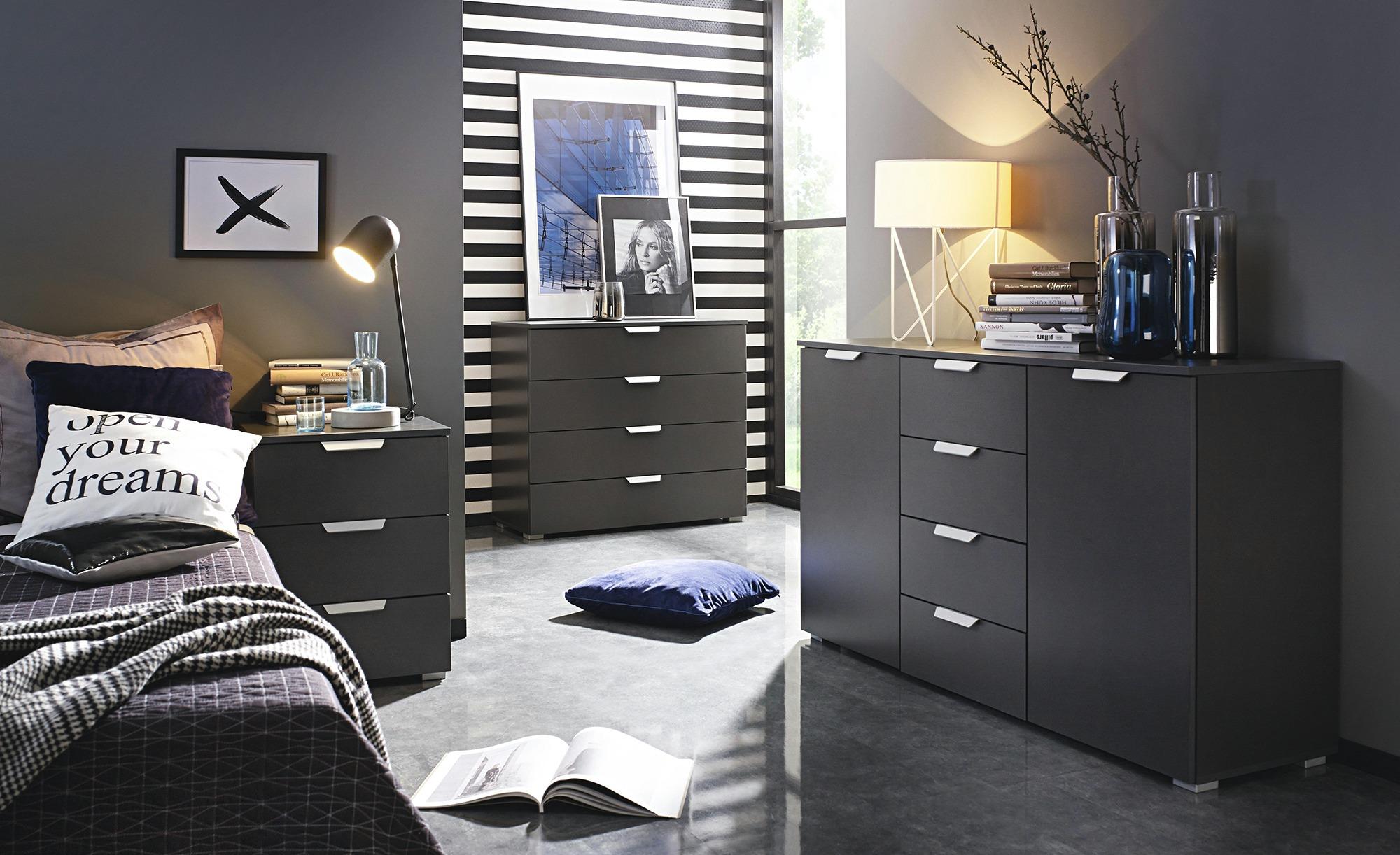 Nachttisch  Aditio - grau - 47 cm - 62 cm - 42 cm - Sconto   Schlafzimmer > Nachttische   Sconto