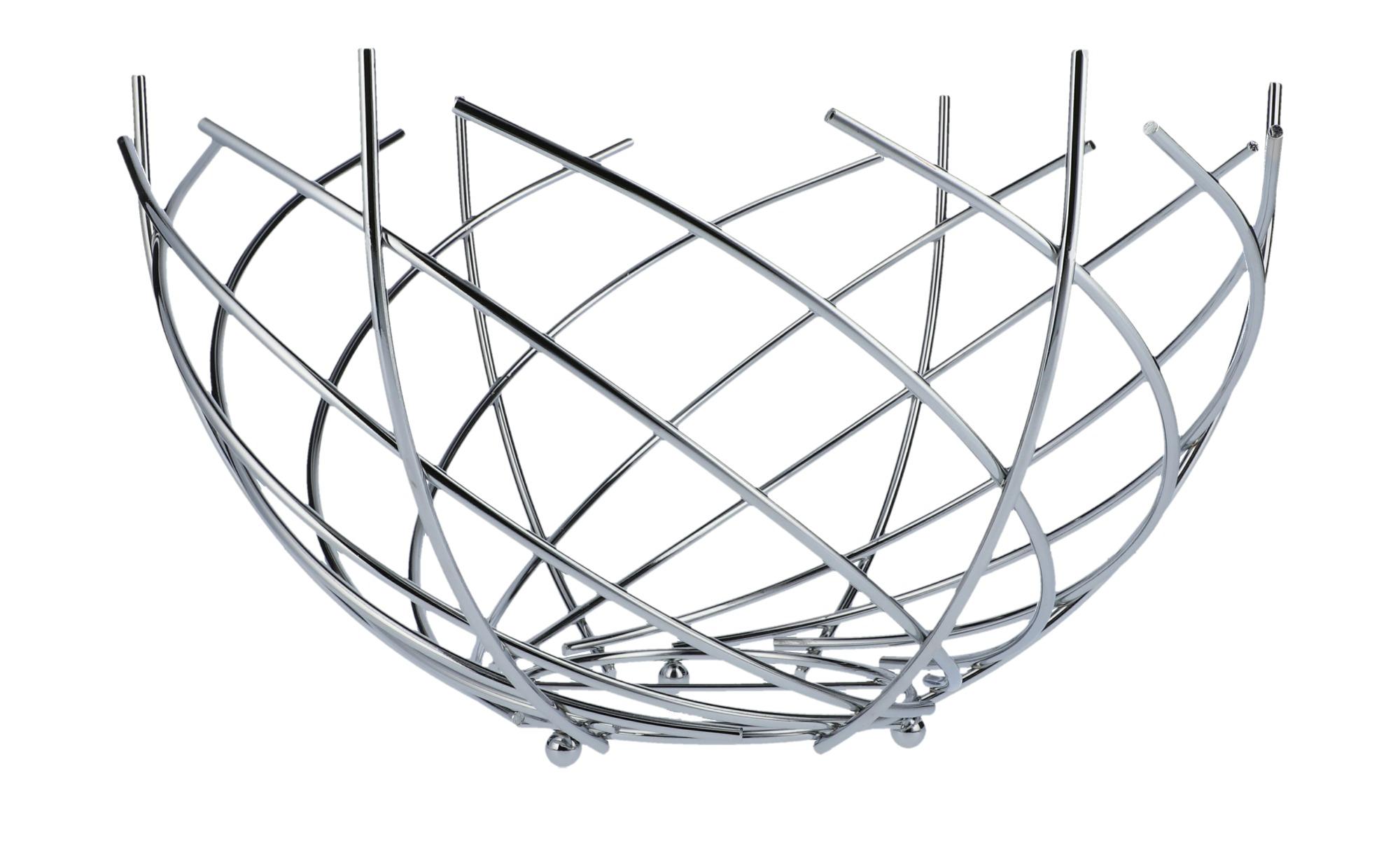 Kesper Brot-/& Obstkorb aus Edelstahl 26 x 26 x 11 cm Silber//schwarz
