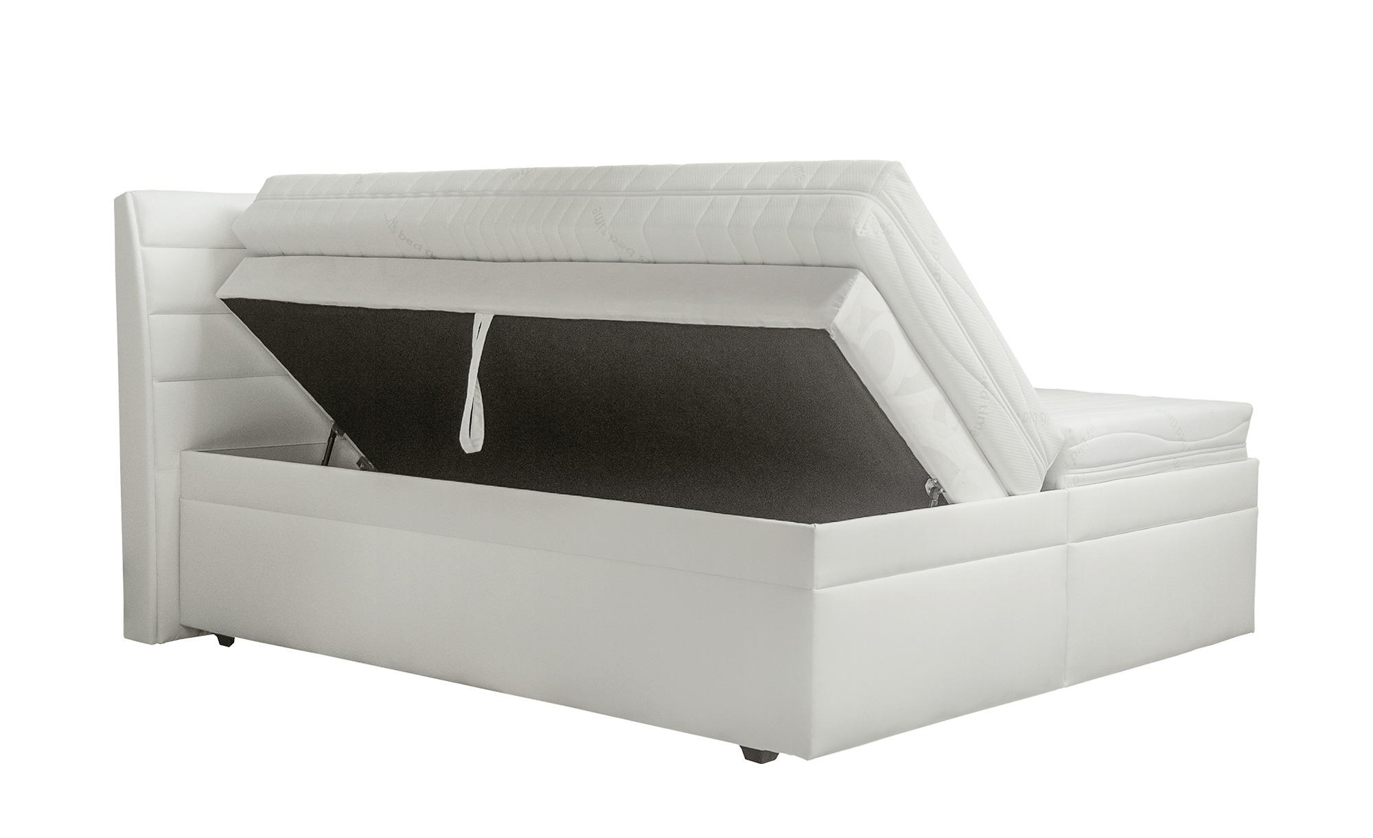 Boxspringbett  Olympie - weiß - 182 cm - 116 cm - 220 cm - Sconto
