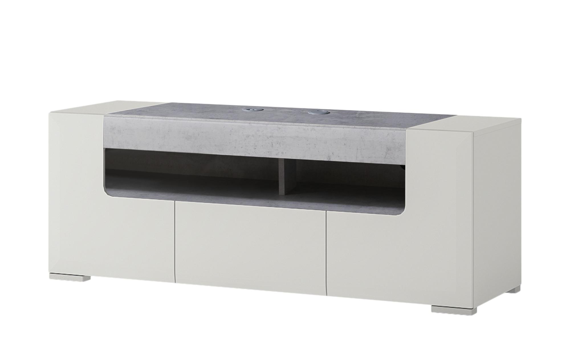 TV-Unterteil - weiß - 140 cm - 52 cm - 45 cm - Sconto | Wohnzimmer > TV-HiFi-Möbel > TV-Lowboards | Sconto