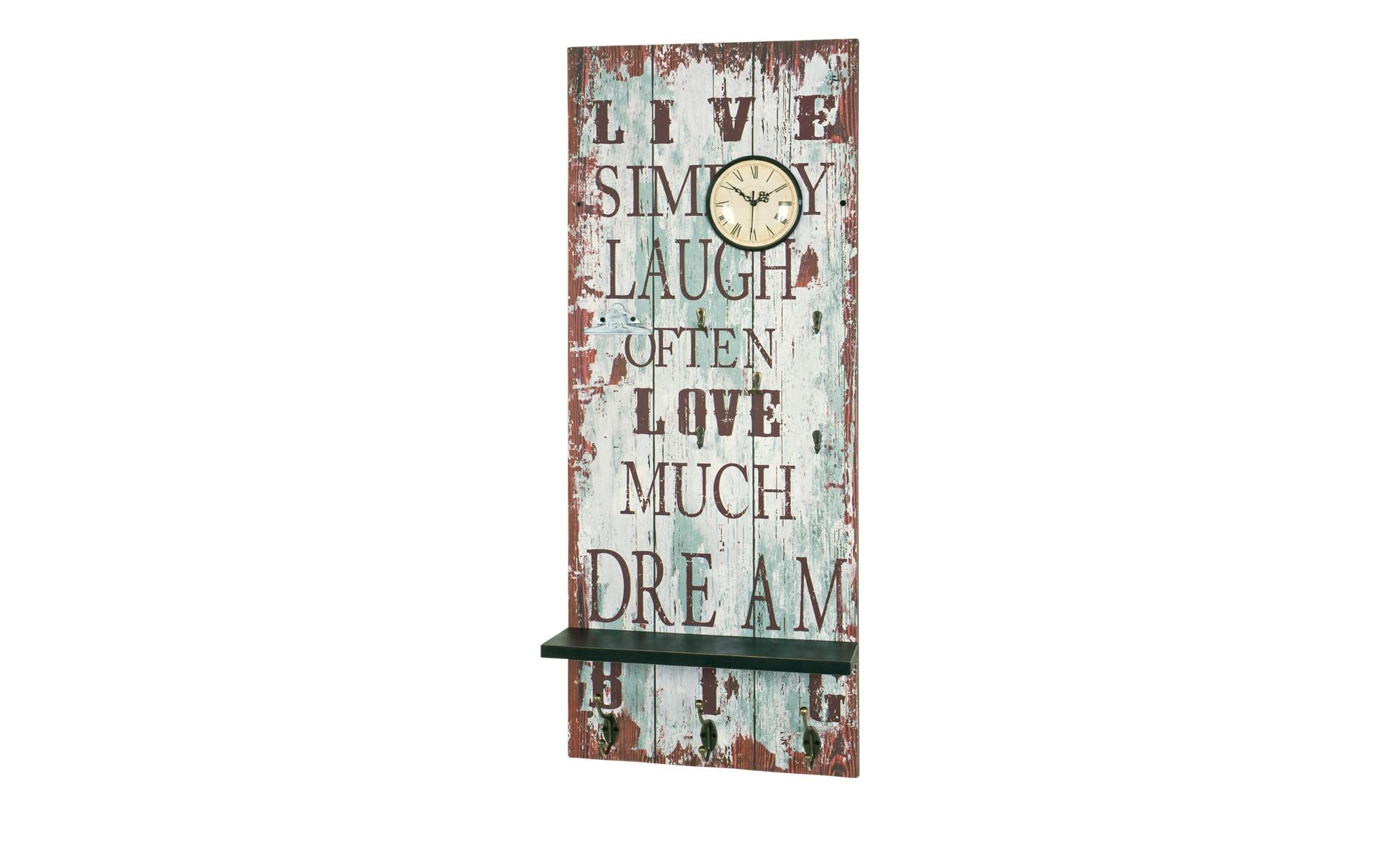 Wandgarderobe mit integrierter Uhr