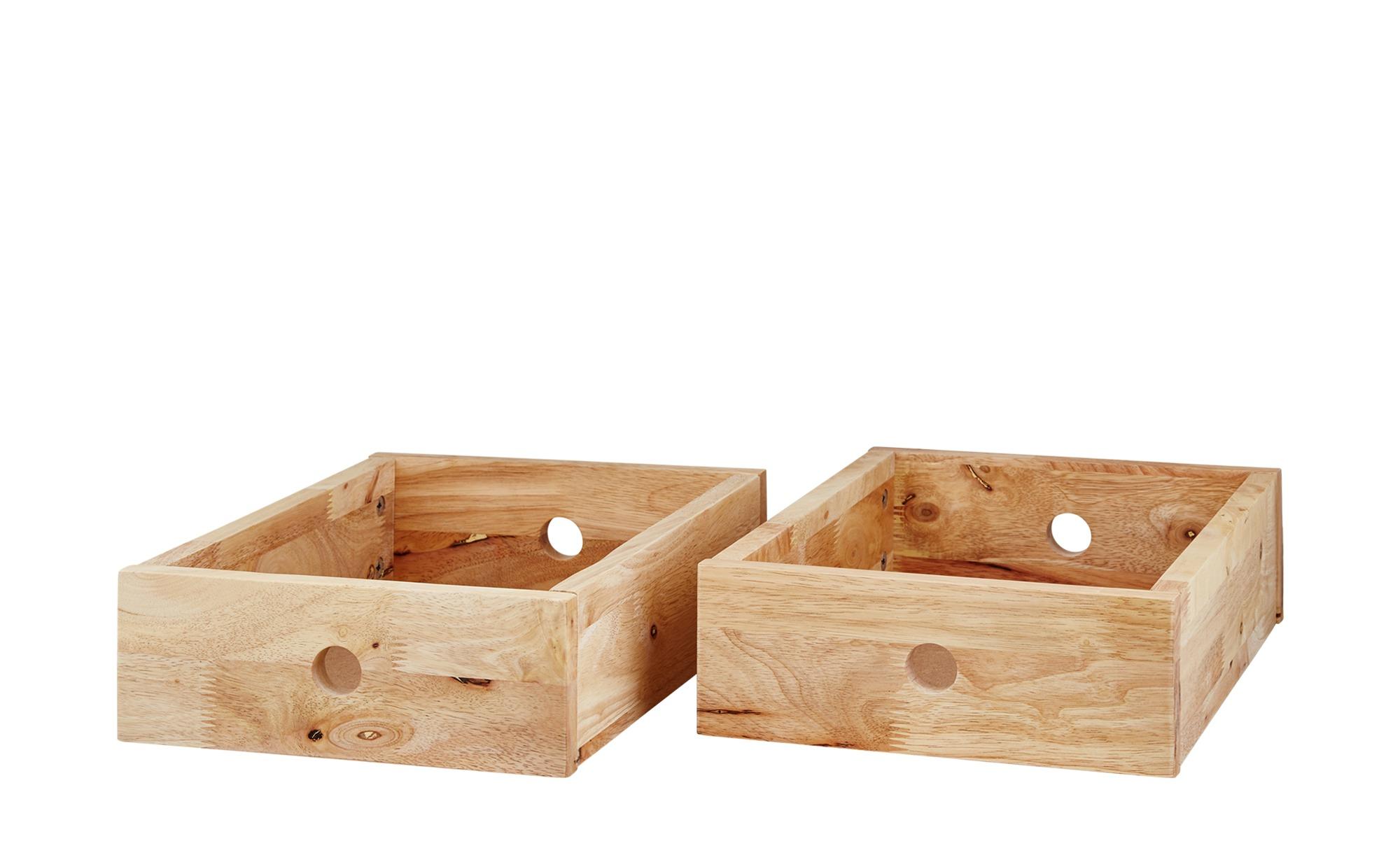 Roomers 2er-Set Schubkästen - holzfarben - 28 cm - 14,6 cm - 39 cm - Sconto | Schlafzimmer > Nachttische | Roomers