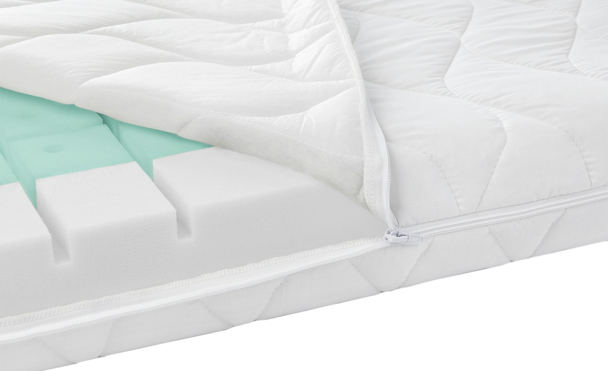 Zöllner Kinderbettmatratze - weiß - Bezug: 65% Polyester, 35% Baumwolle - 70 cm - 10 cm - Sconto | Kinderzimmer > Textilien für Kinder > Kinderbettwäsche | Zöllner