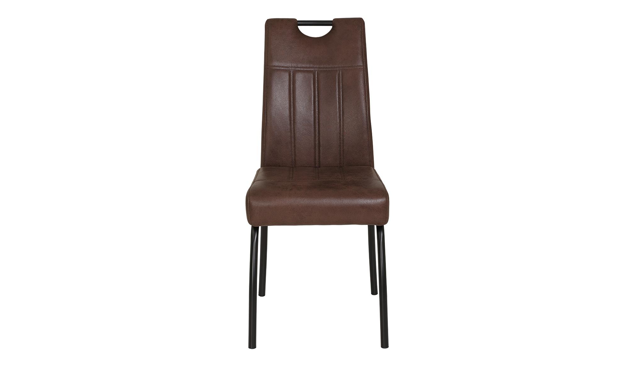 4-Fuß-Stuhl  Beate - braun - Sconto