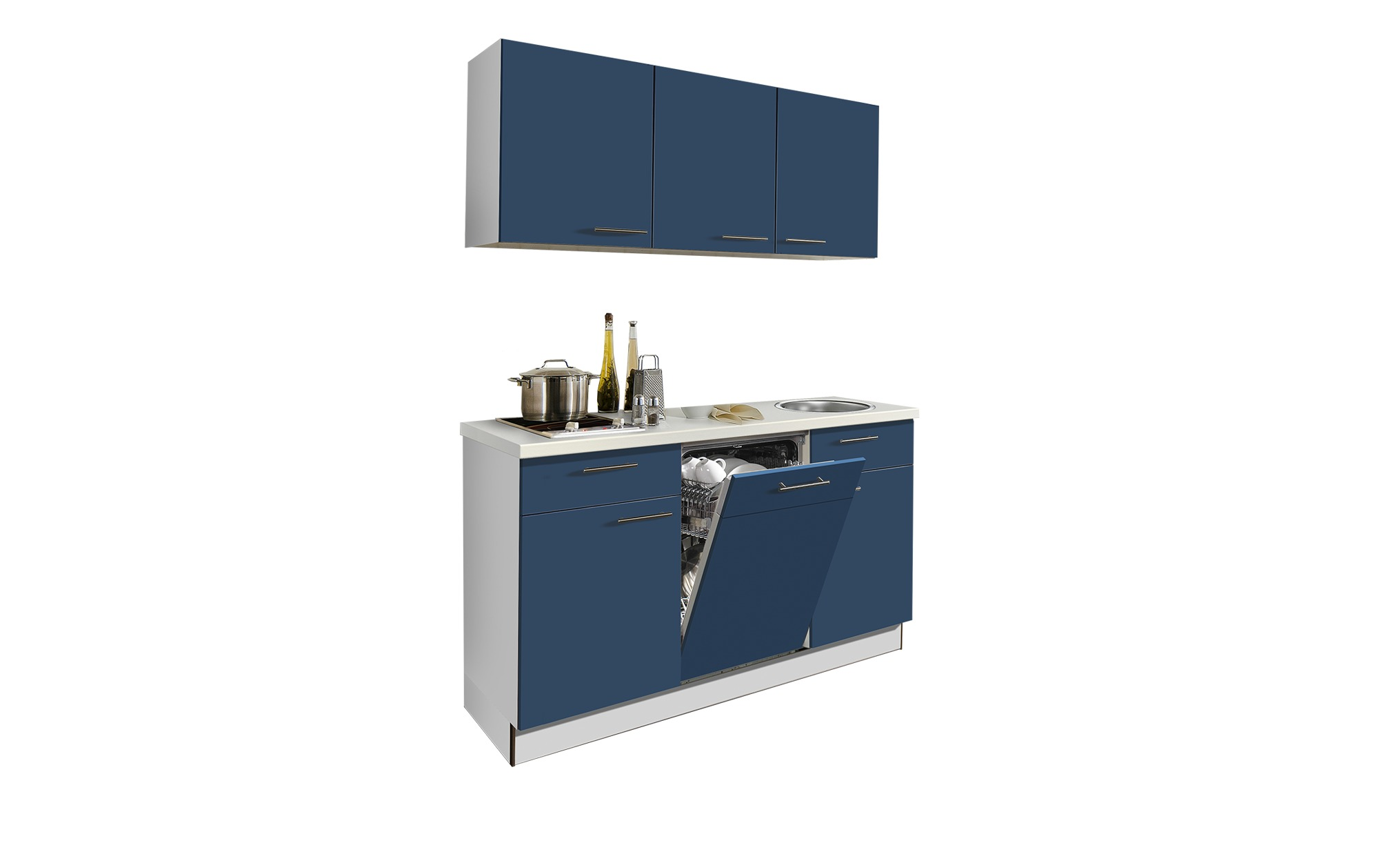 Küchenzeile  Smart 1200 - blau - Sconto günstig online kaufen