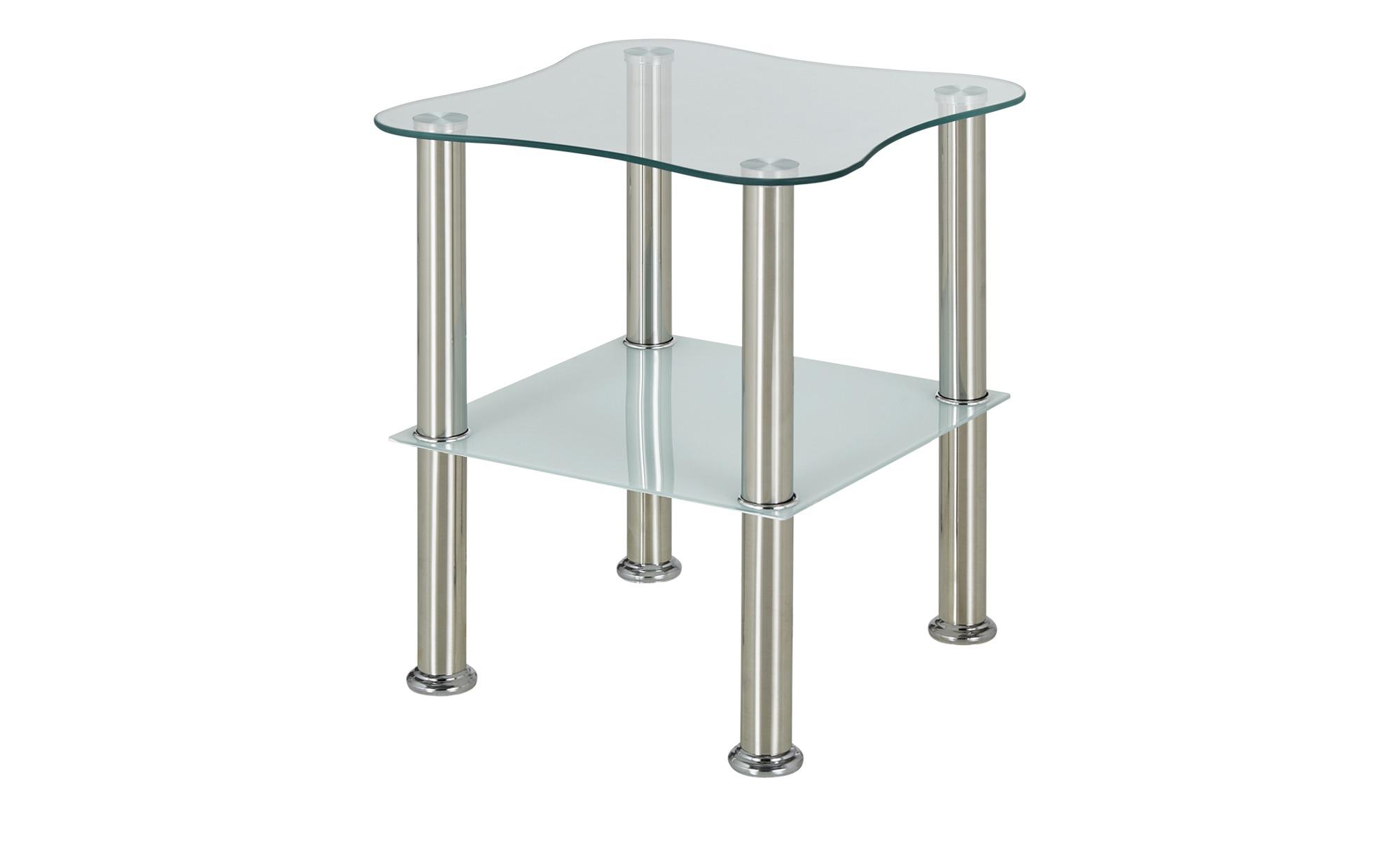 Transparentes Möbel mit Edelstahlgestell