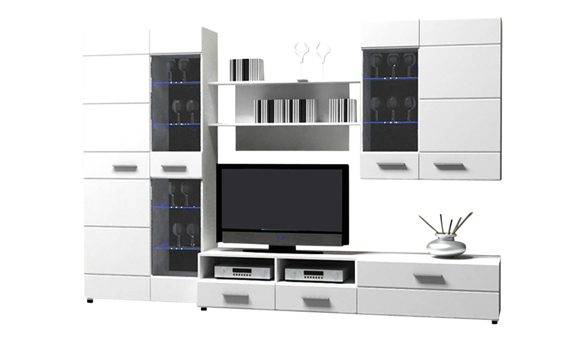 Wohnwand Weiß Hochglanz Sconto Der Möbelmarkt