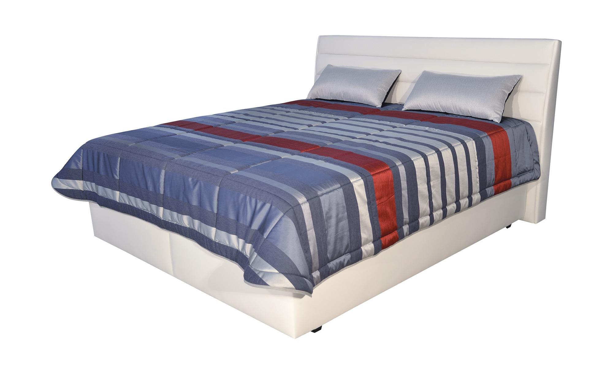 Boxspringbett Olympie - weiß - 202 cm - 116 cm - 220 cm - Sconto