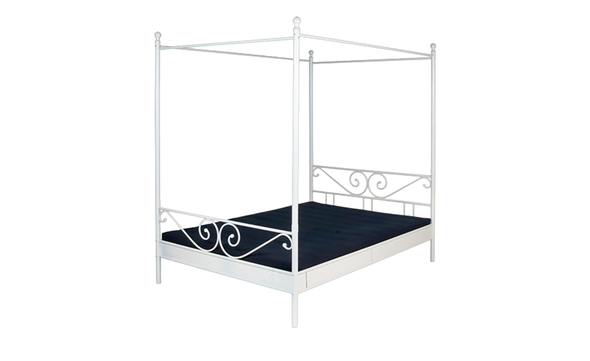 metallbett himmelbett ca 180x200 cm 180 cm wei. Black Bedroom Furniture Sets. Home Design Ideas