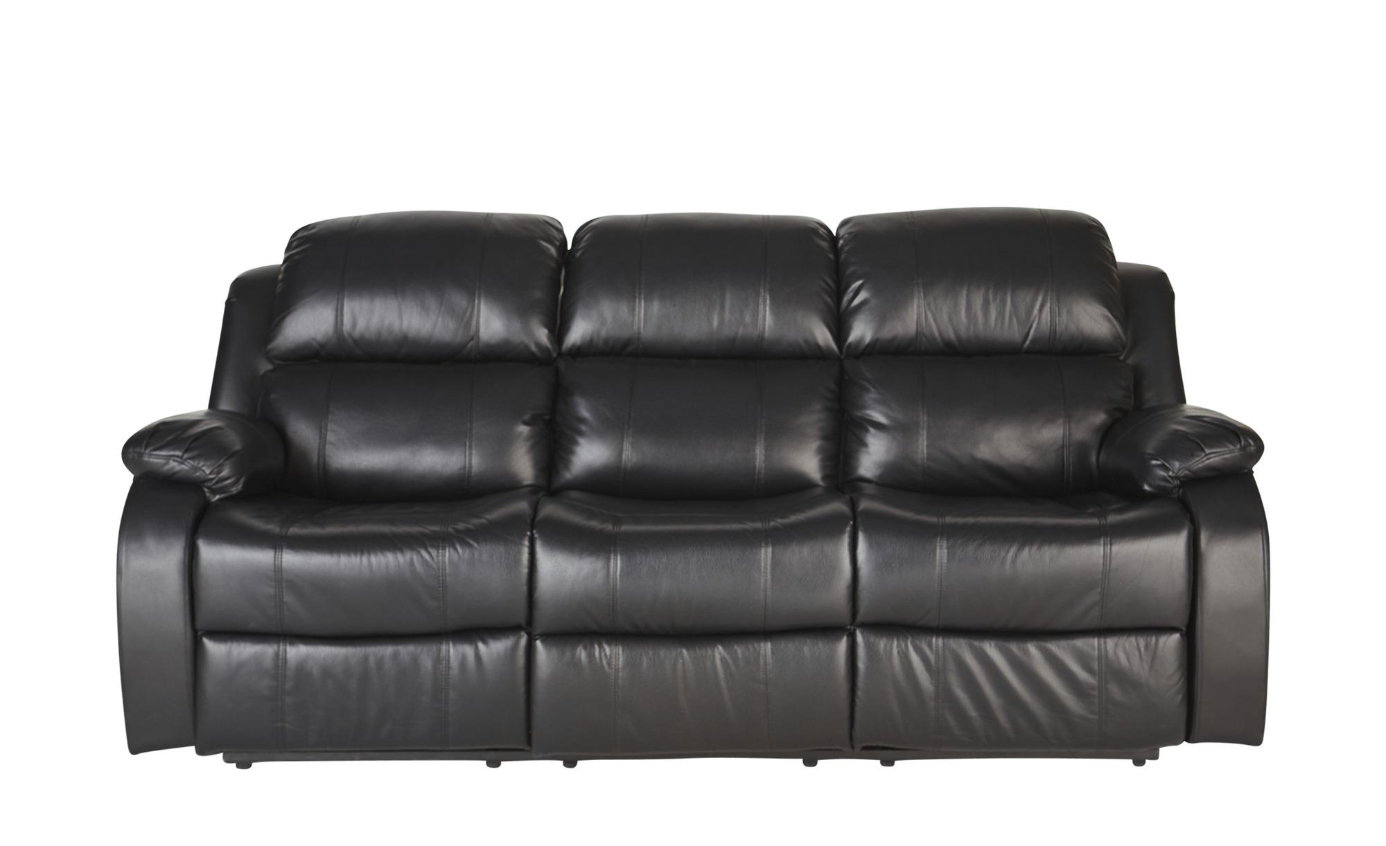 3-Sitzer Schwarz - schwarz - Sconto