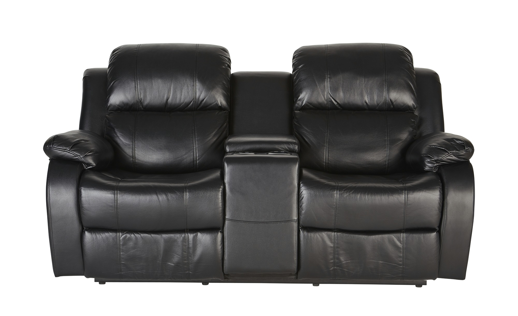2-Sitzer Schwarz - schwarz - Sconto