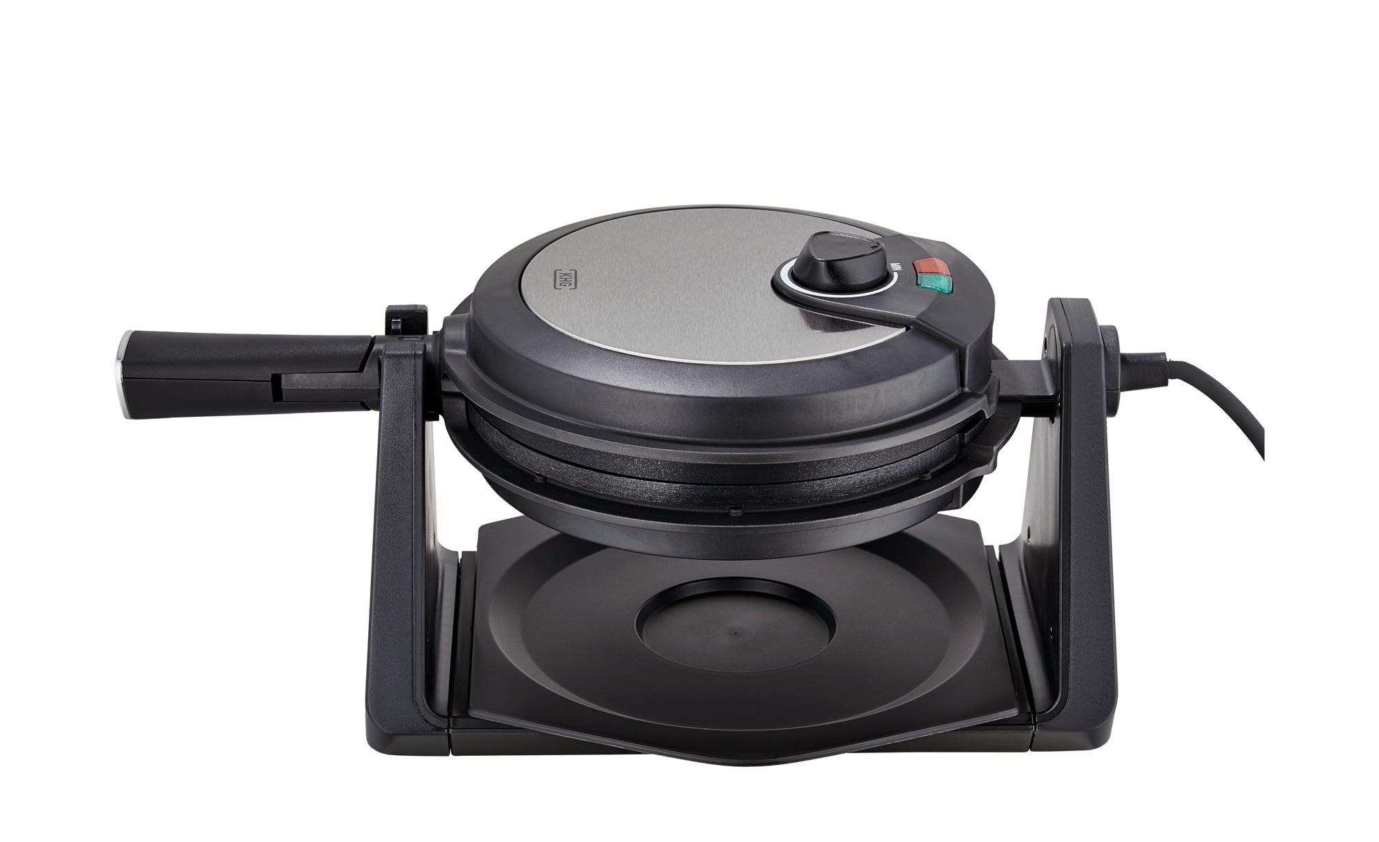 KHG Waffeleisen  WMR-1000 - schwarz - Metall-lackiert - 24 cm - 18,7 cm - 39,6 cm - Sconto | Küche und Esszimmer > Küchengeräte > Waffeleisen | KHG