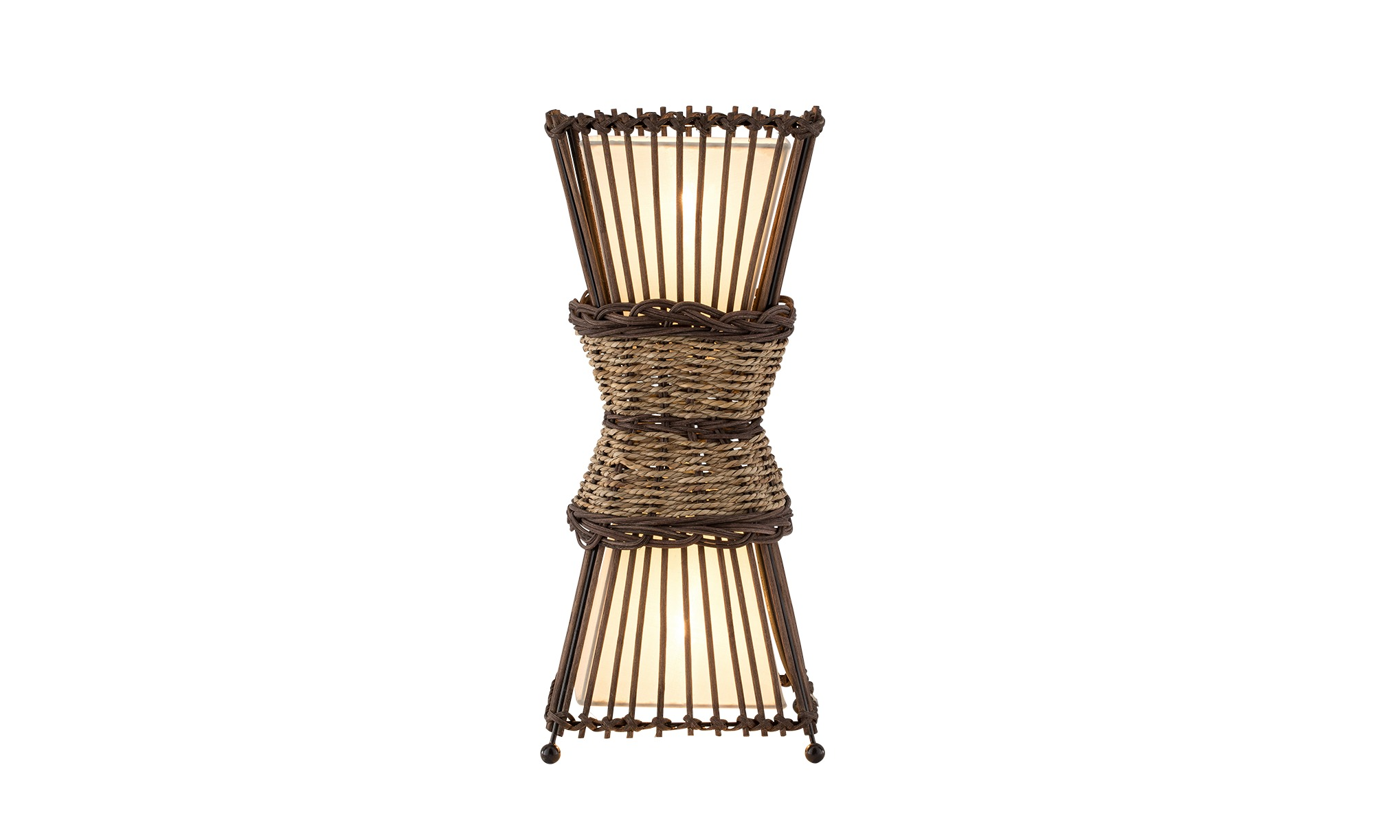 Tischlampe aus Rattan