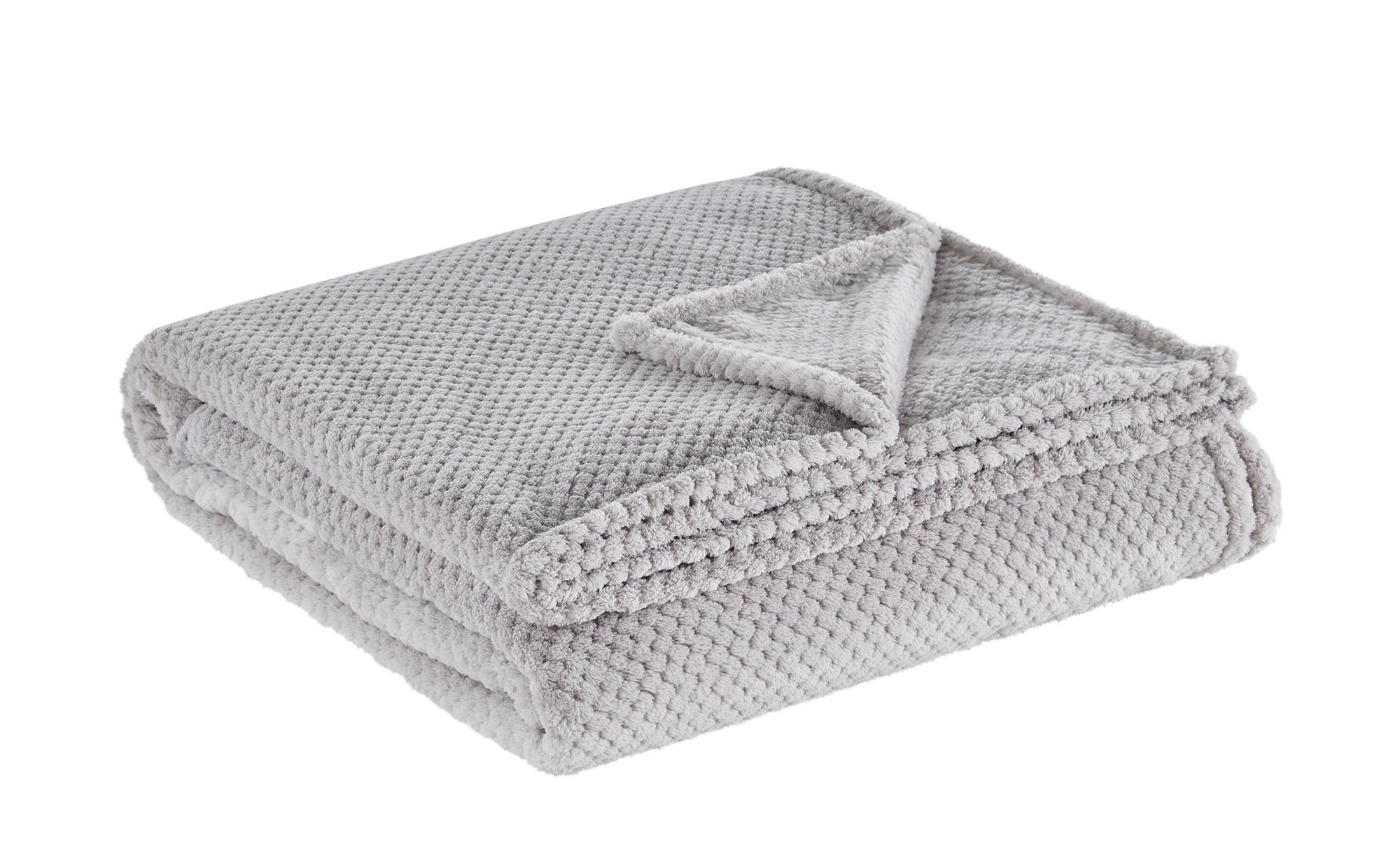 LAVIDA Coralfleece Decke  Mia XL - grau - 100% Polyester, Polyester - 220 cm - Sconto | Heimtextilien > Decken und Kissen > Mehr-Decken | LAVIDA