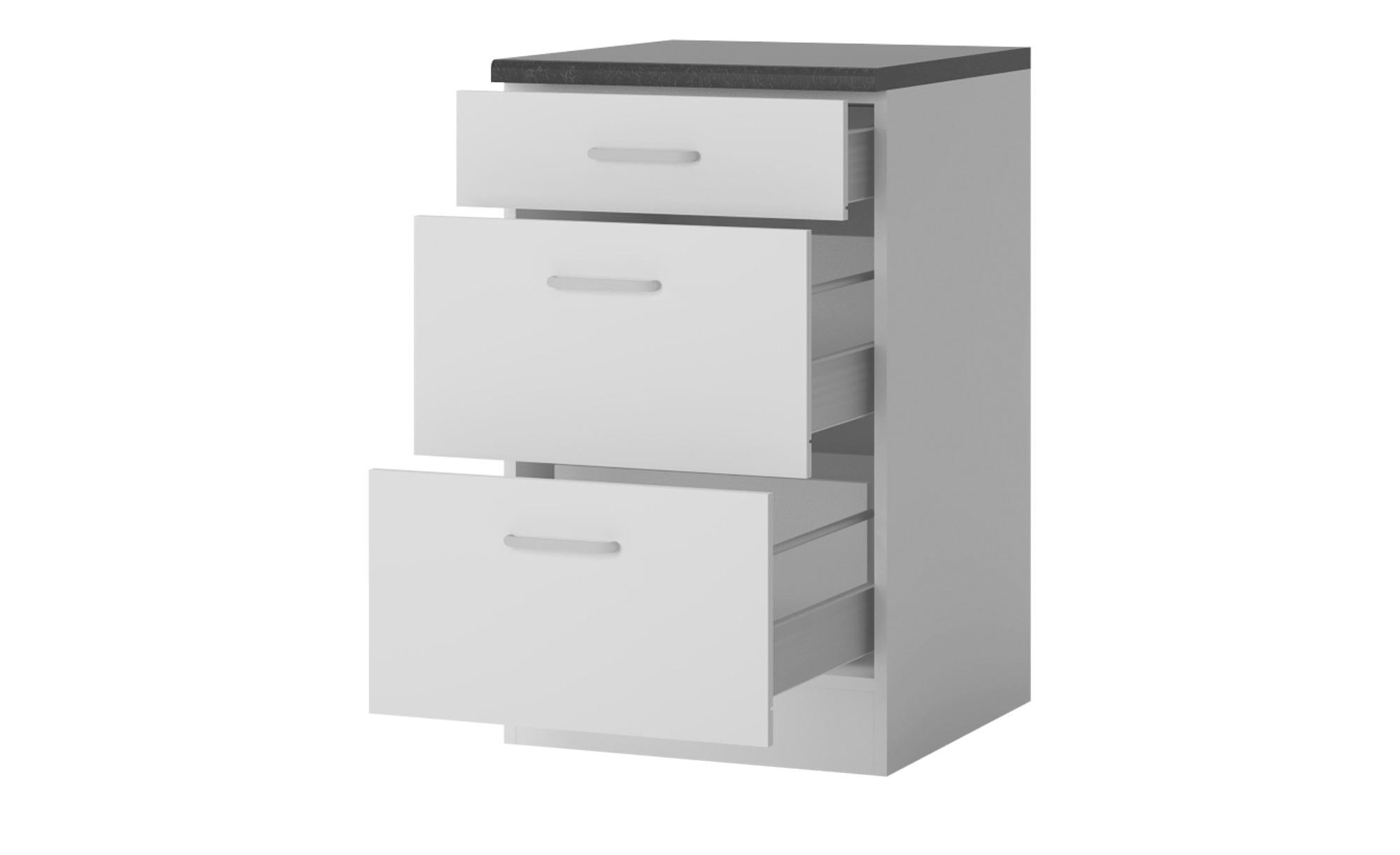 Unterschrank  Dance - weiß - 50 cm - 85 cm - 60 cm - Sconto | Küche und Esszimmer > Küchenschränke | Sconto