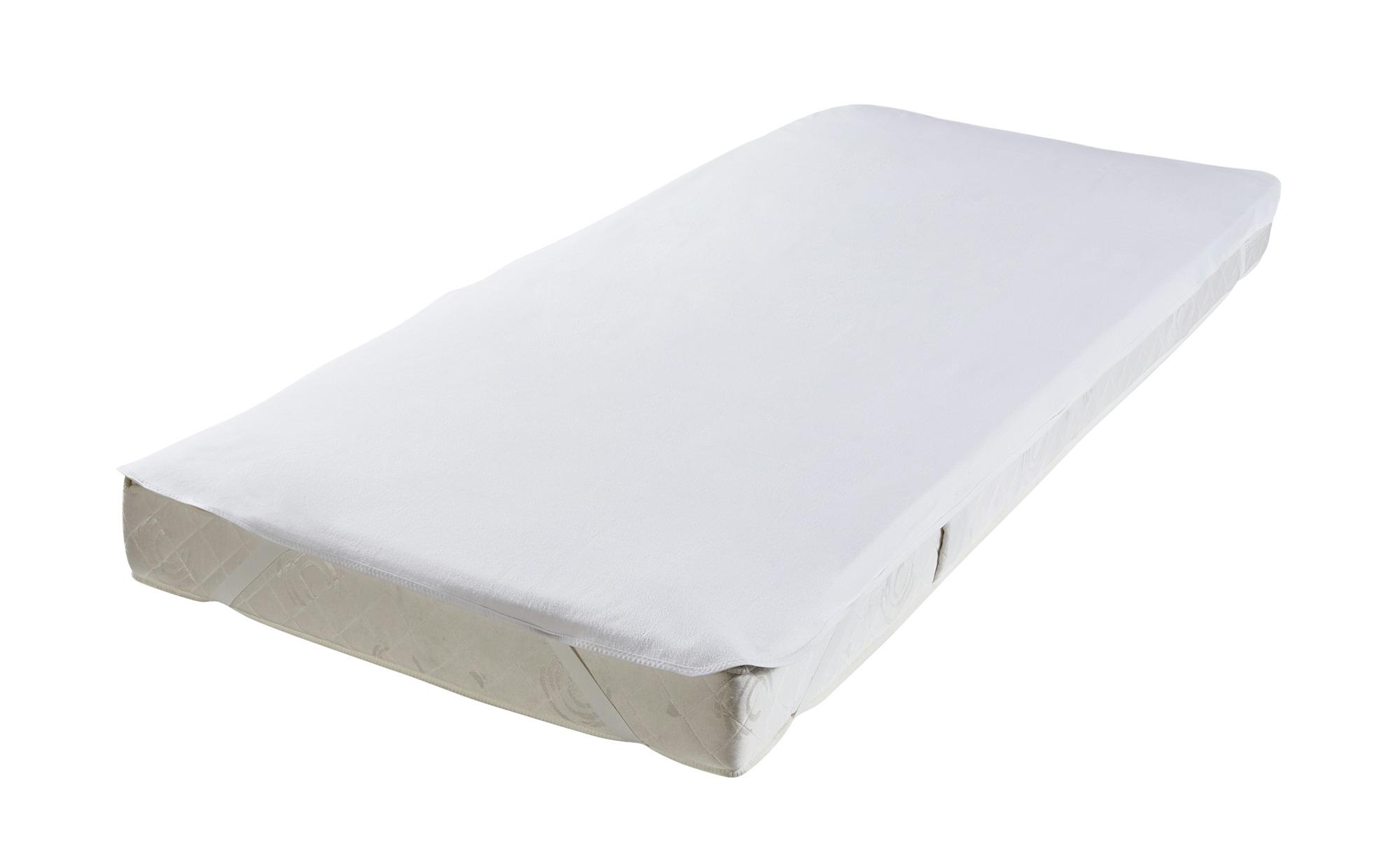 LAVIDA Molton-Matratzenauflage - weiß - 100% Baumwolle - 160 cm - Sconto