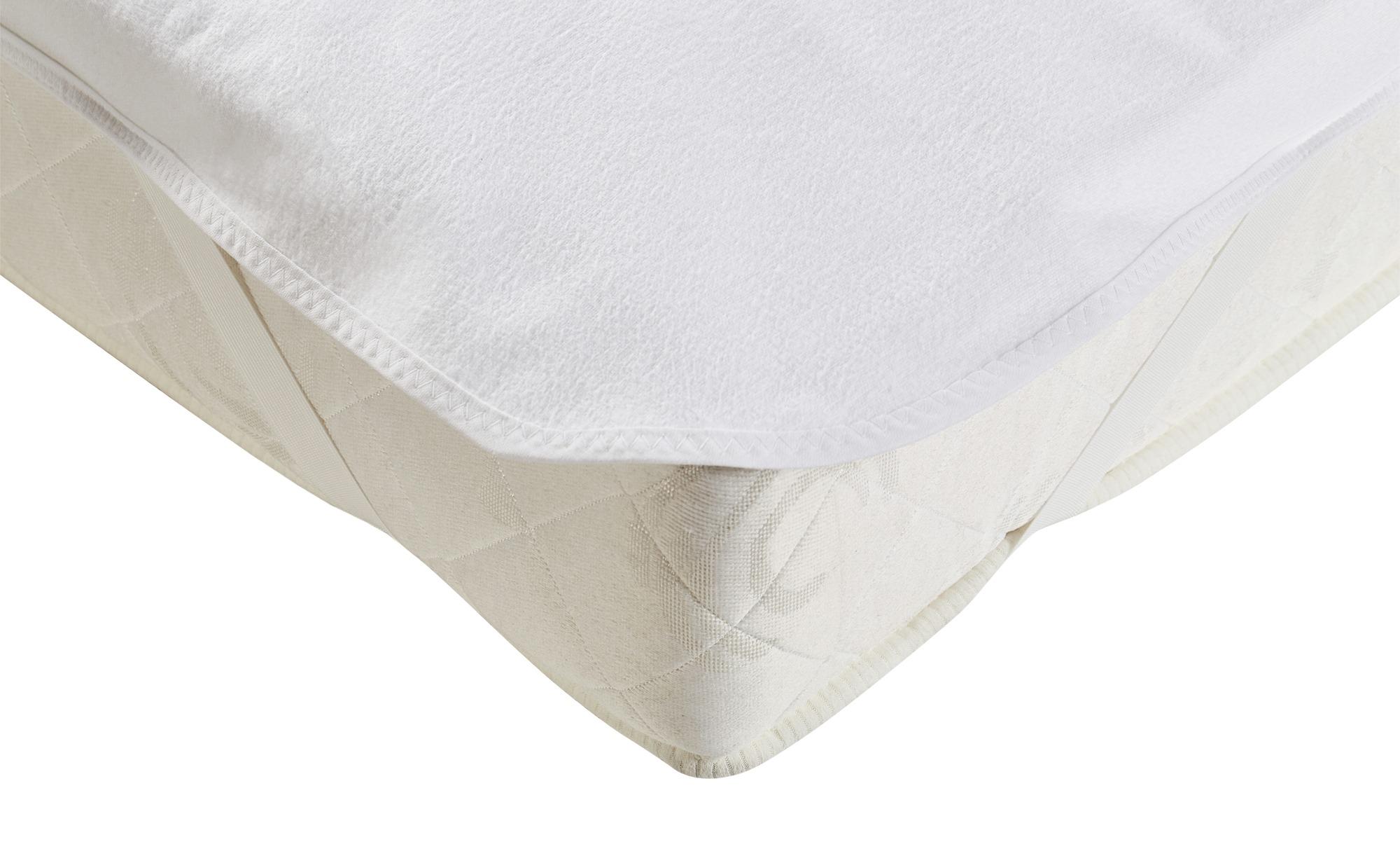 LAVIDA Molton-Matratzenauflage - weiß - 100% Baumwolle - 180 cm - Sconto