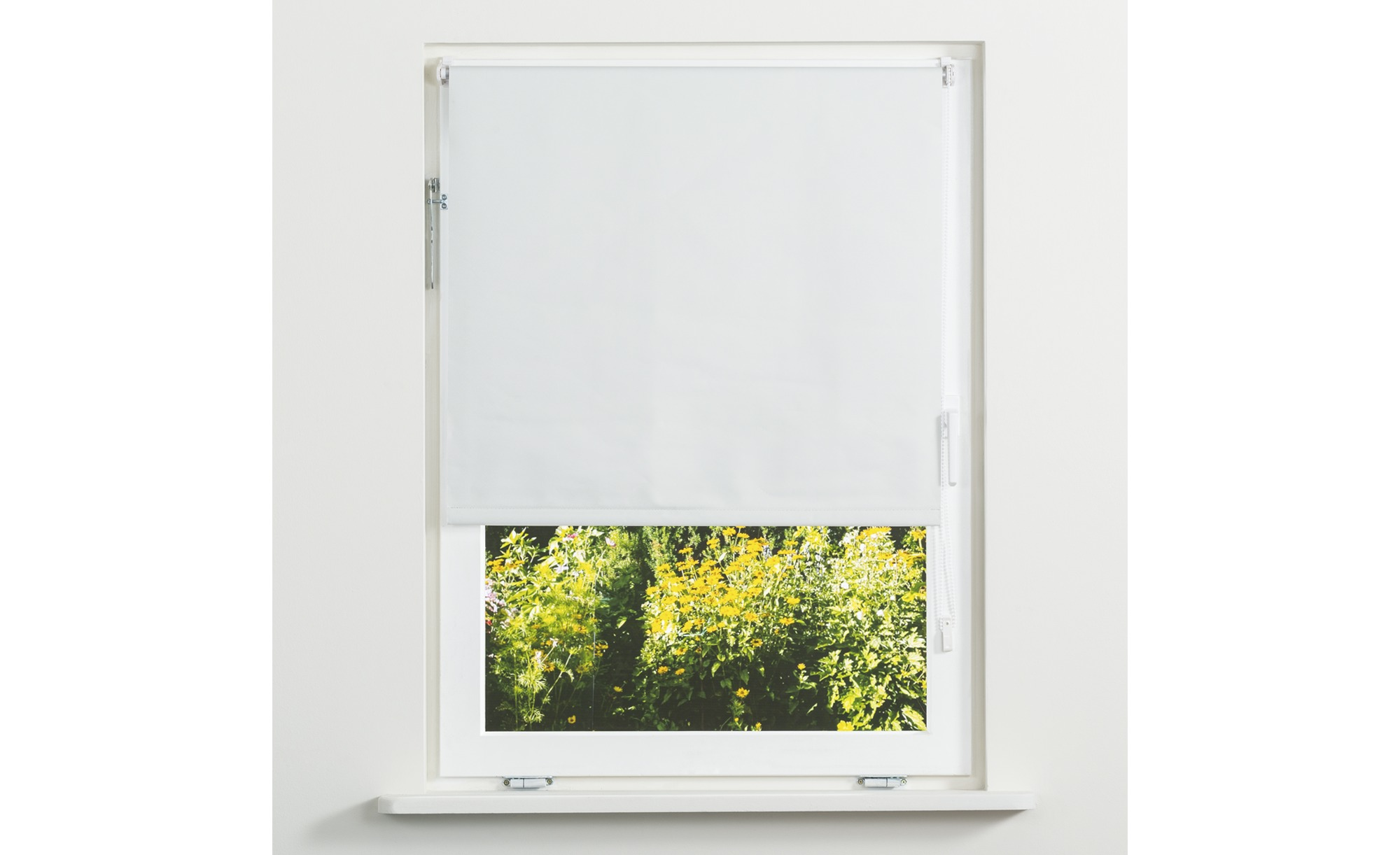 Rollo Klemmfix - weiß - Polyester - 100 cm - Sconto   Heimtextilien > Jalousien und Rollos > Verdunklungsrollos   Sconto