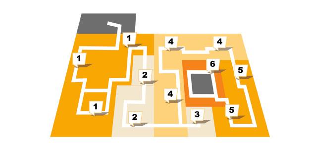 Sconto in Erfurt - Etagenplan - Obergeschoss